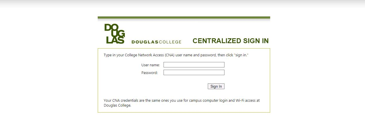 Douglas College Blackboard Login